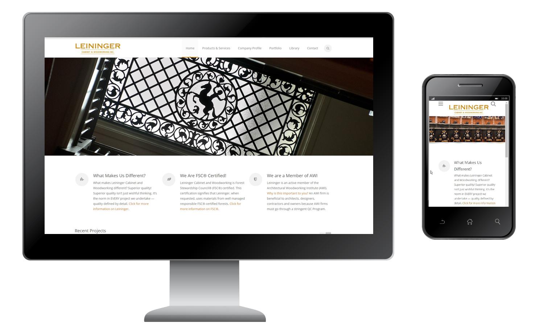 Buckaroo Marketing - Leininger Woodworking Website