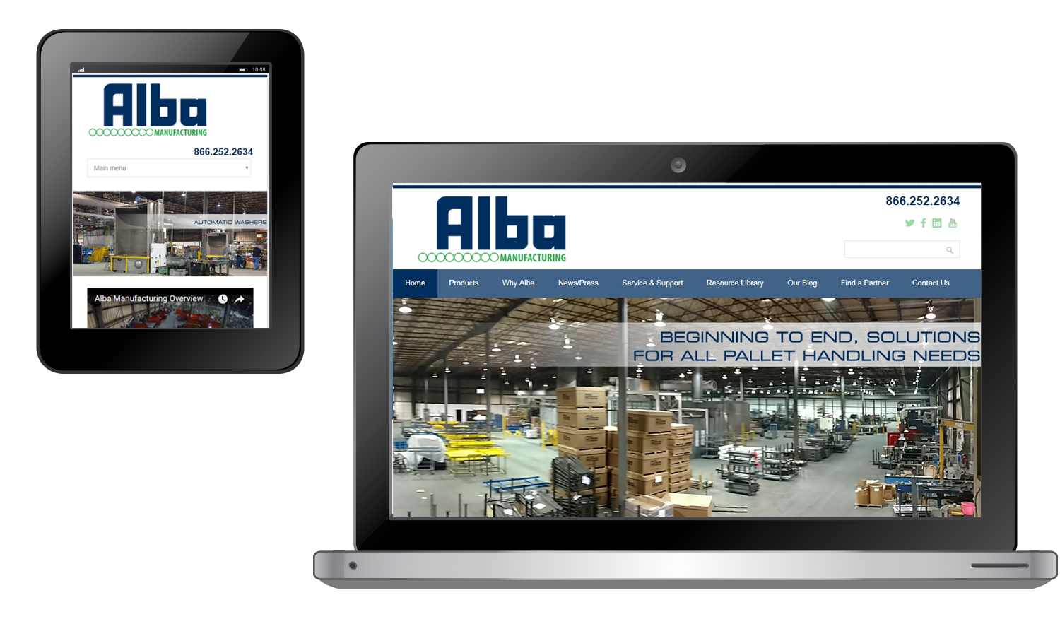 Buckaroo Marketing - Alba Manufacturing Website