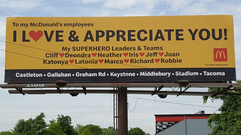 Buckaroo Marketing - McDonalds Billboard